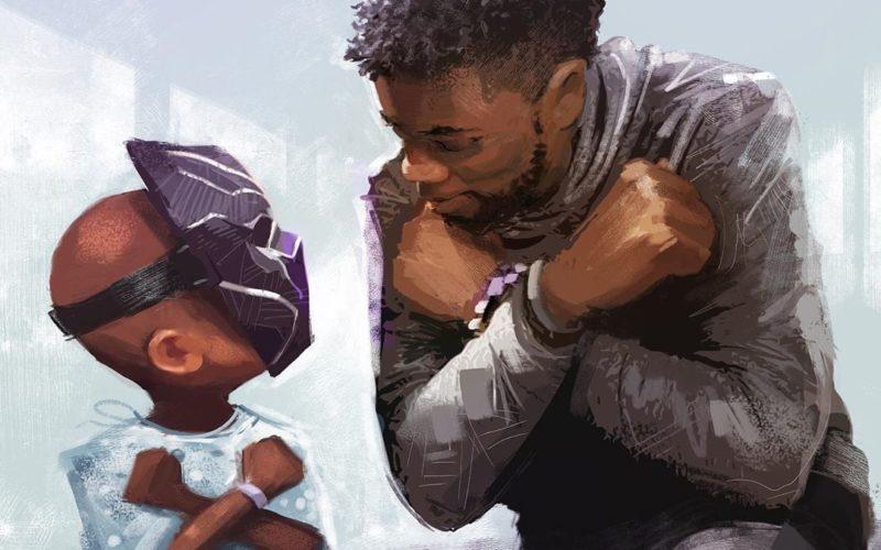 Disneyland Chadwick Boseman Black Panther mural
