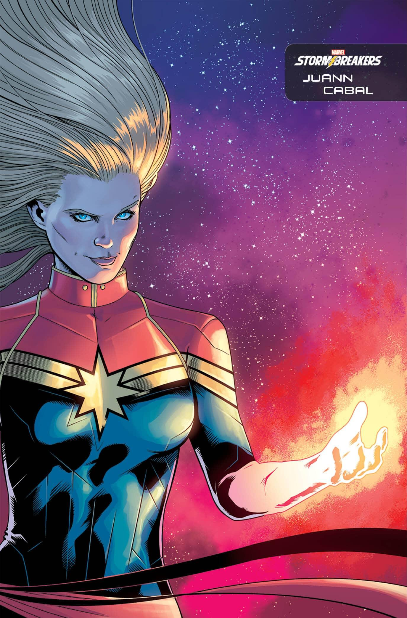 Captain Marvel #25 Stormbreakers variant cover by Juann Cabal