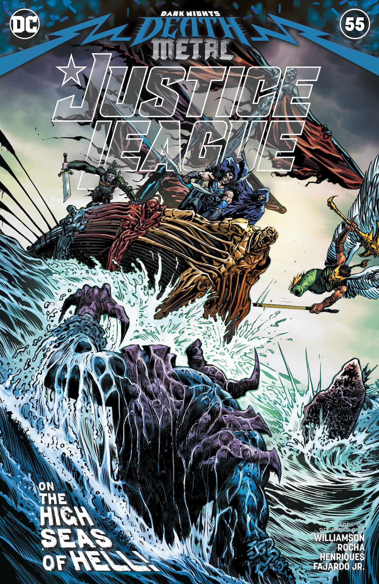 Justice League #55 cover