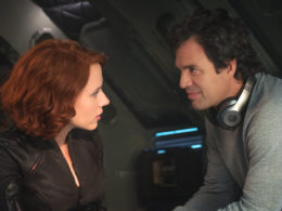 Bruce Banner (Mark Ruffalo) and Black Widow (Scarlett Johansson)