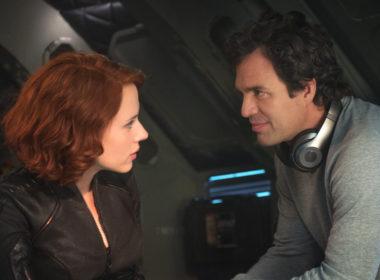 Bruce Banner (Mark Ruffalo) and Black Widow (Scarlett Johansson)