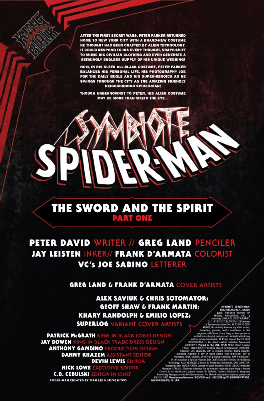 Symbiote Spider-Man: King in Black #1