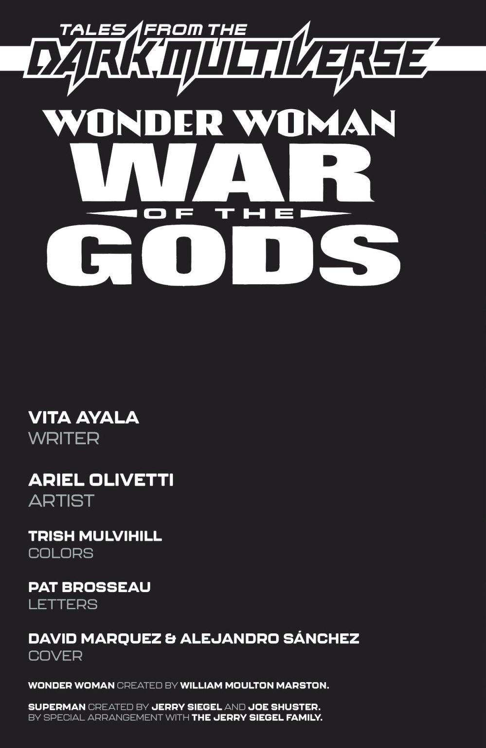 Wonder Woman: War of the Gods #1