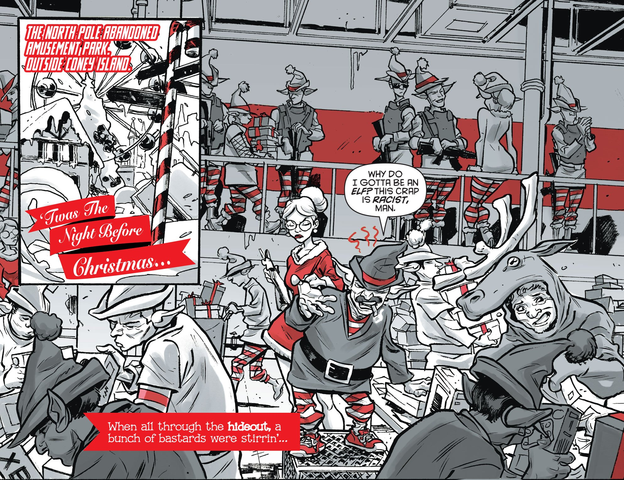 Harley Quinn Black + White + Red #16