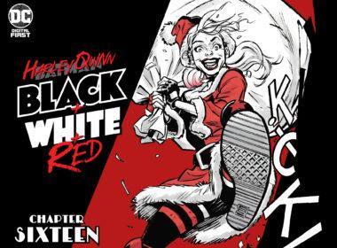 Harley Quinn Black + White + Red #16