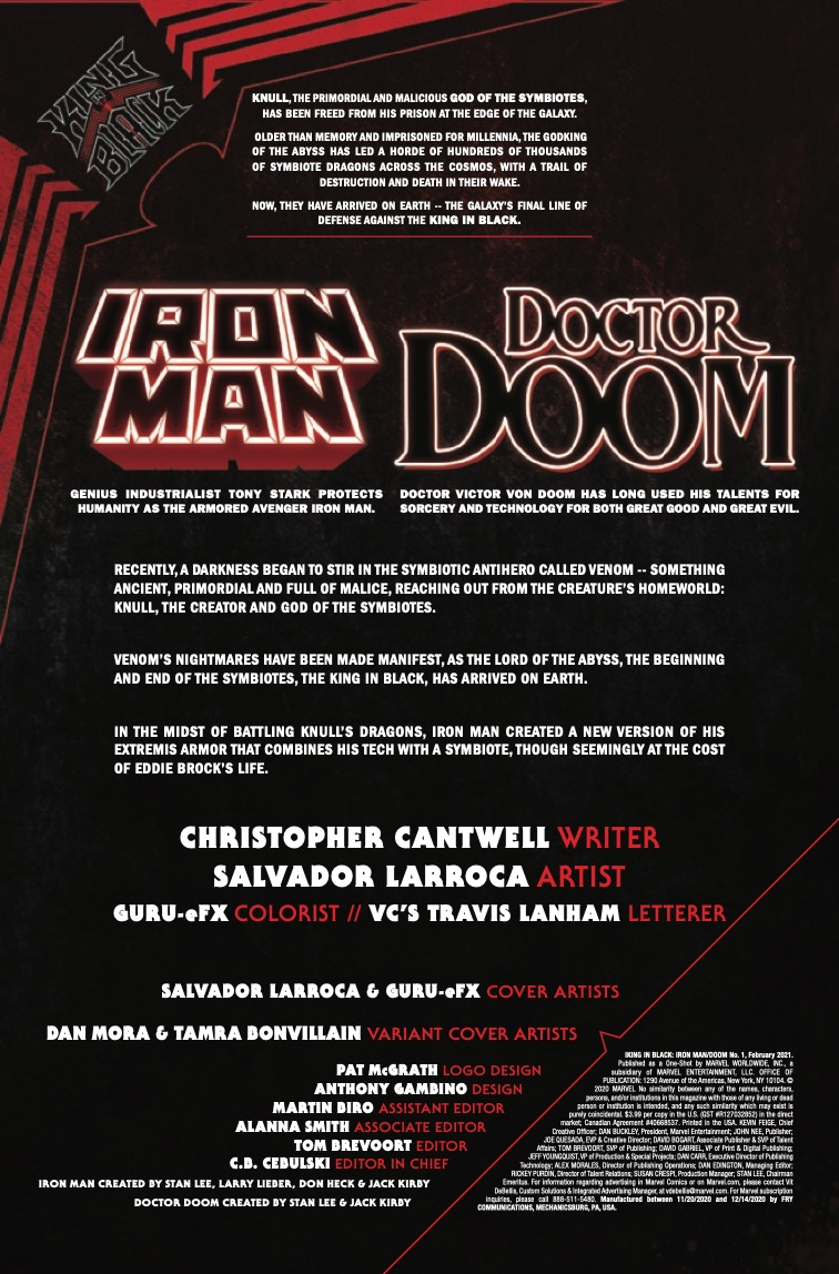 King in Black: Iron Man/Doom #1
