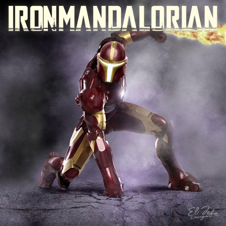 The Mandalorian crossover fan art, Ironmandalorian