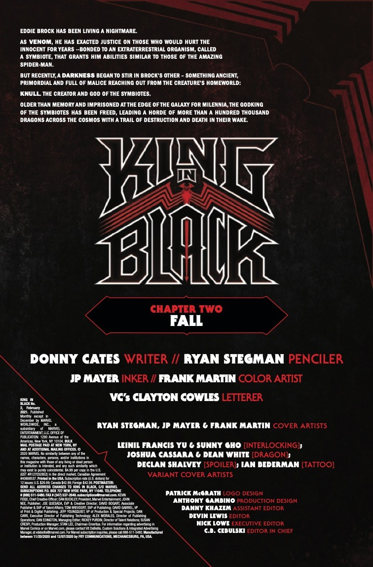 King in Black #2 preview