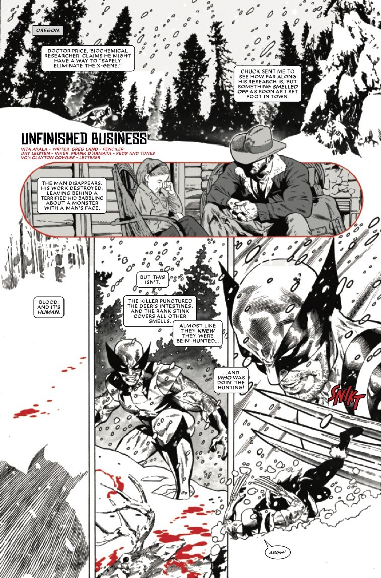 Wolverine: Black, White & Blood #2 preview